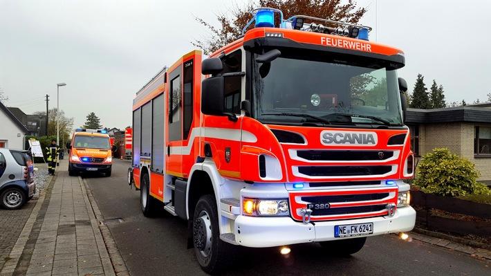 FW-NE: Feuerwehr probt Ernstfall