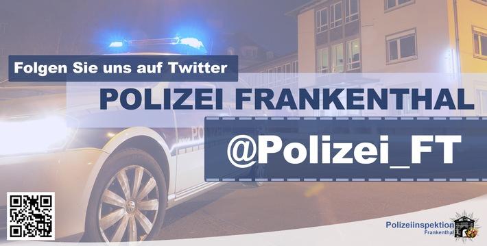 POL-PDLU: Frankenthal: Nach Auffahrunfall leicht verletzt