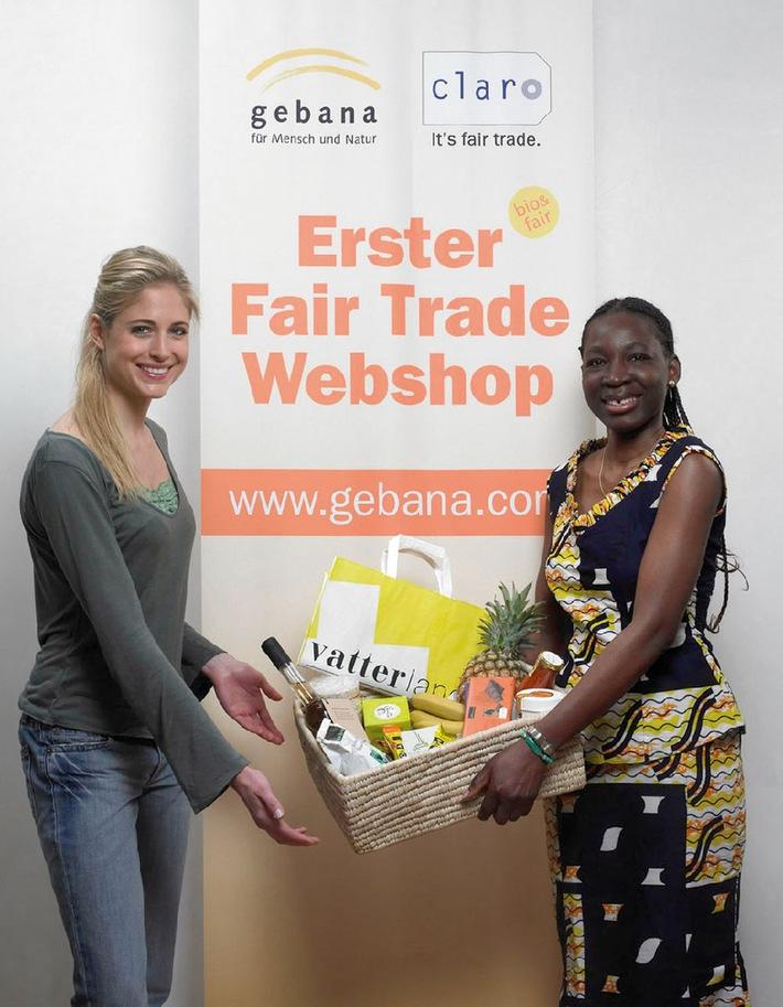 Miss Schweiz kauft fair - Erster Fair Trade-Webshop gebana.com