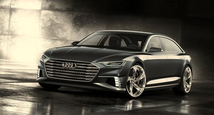 Sportlich-elegant, vielseitig und vernetzt - das Showcar Audi prologue Avant