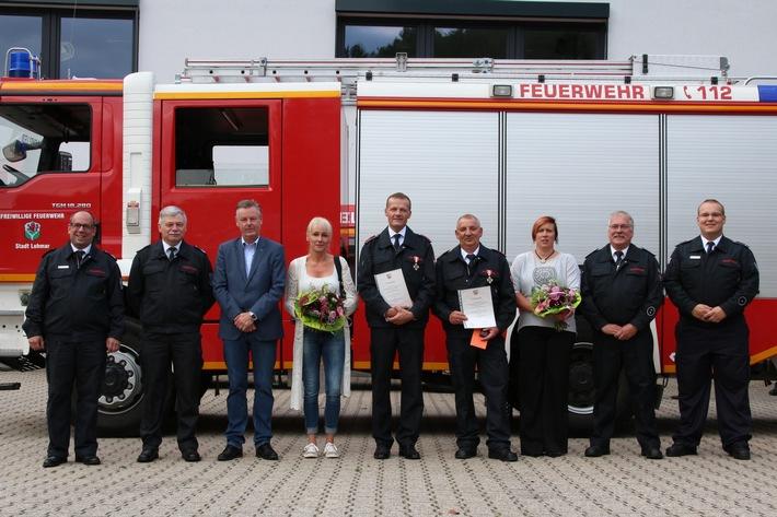 FW-Lohmar: Verleihung von Feuerwehrehrenzeichen im Löschzug Lohmar