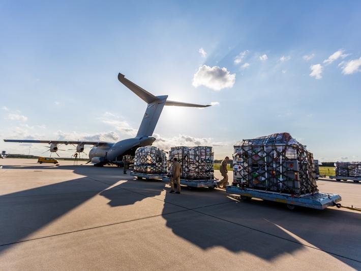 in Hurrikan Irma: Deutsche Luftwaffe bringt Hilfsmaterial in die Karibik