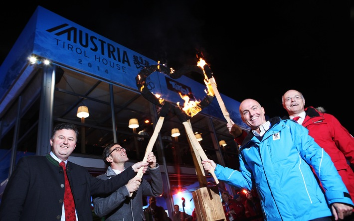 Das Herz der Tiroler Gastfreundschaft brennt in Sotschi: Austria Tirol House feierlich eröffnet