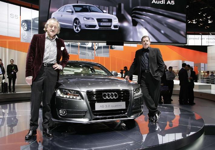 """A yelled Hello"" bei der Weltpremiere des Audi A5"