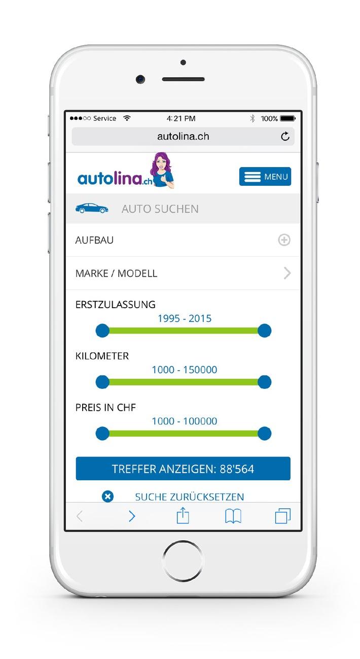 autolina.ch - die exklusive Autoplattform mit brandneuen Funktionen und Zielgruppenerweiterung