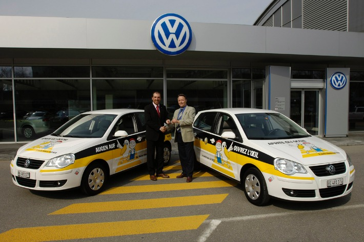 """10 VW Polo im Einsatz als """"Weisse Raben"""" des ACS"""