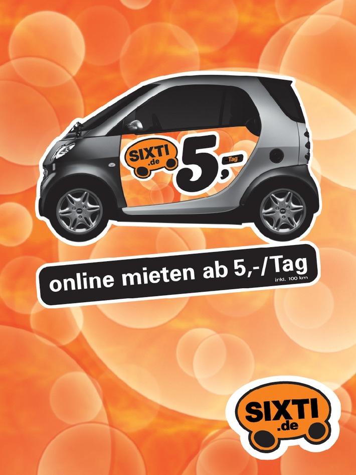 SIXTI geht an den Start: Online Automieten ab 5 Euro pro Tag