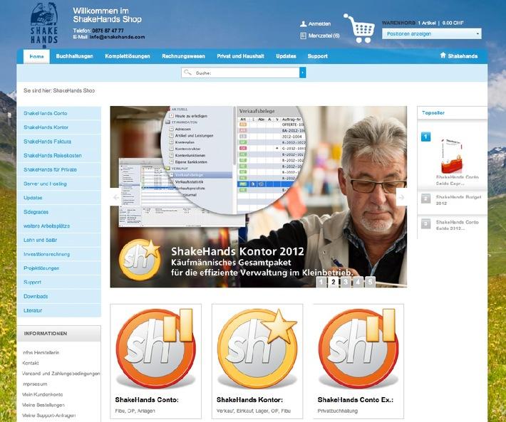 ShakeHands Auftrags- und Buchhaltungslösungen - Release 9.2.2 freigegeben / Der Release 9.2.2 ist MountainLion kompatibel und unterstützt Mail-Server und QR-Bezahlcode sowie Saldosteuersatz