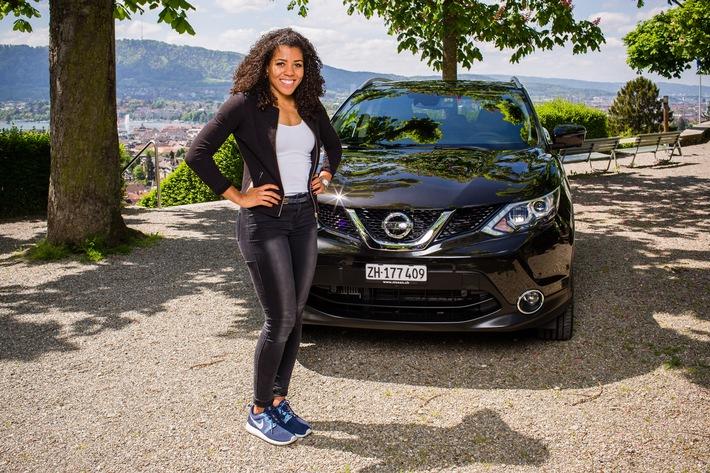 Schnellste Frau der Schweiz wird Nissan Botschafterin
