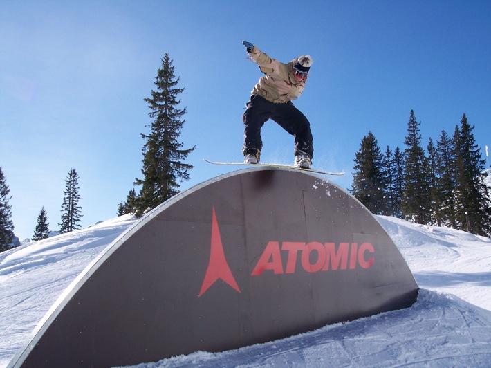 """Top Snowboard-Rennen """"Balls to the Walls"""" in der Axamer Lizum Die Weltelite ist am Start - 12. bis 13. Februar 2005"""