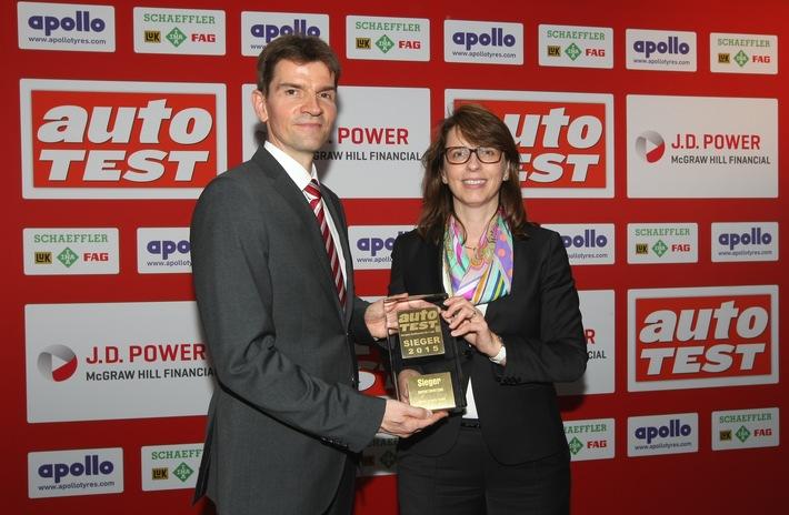 SKODA Octavia Combi ist ,Auto Test Sieger 2015' in der Importwertung