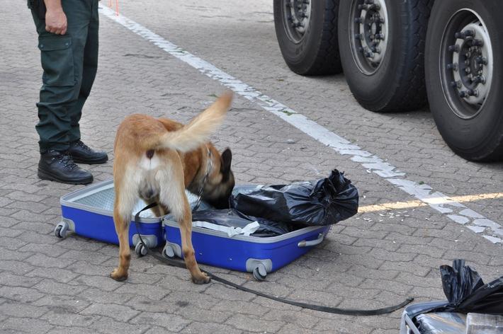 POL-FL: BAB 7 Ahrenholz (SL-FL) - 60 kg Haschisch beschlagnahmt, Flensburger Spediteur in Haft