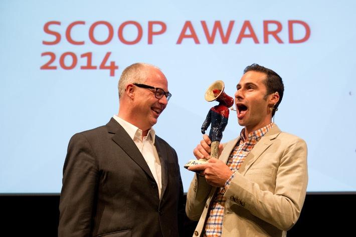 Burt Herman erhält den ersten scoop Award