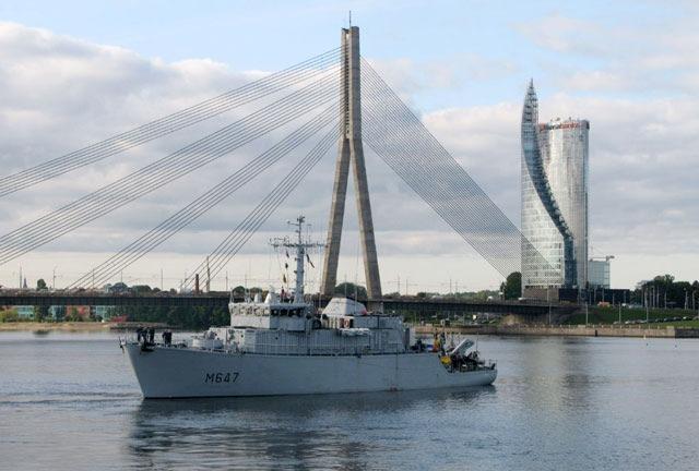 Deutsche Marine: Pressemeldung - Internationaler Marineverband macht Ostssee sicherer - Bereits erste Mine gesprengt