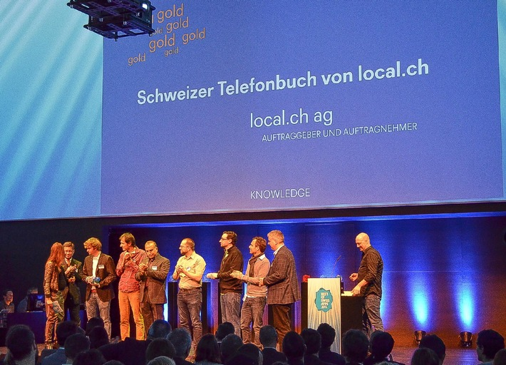local.ch décroche la médaille d'or au Best of Swiss Apps Award