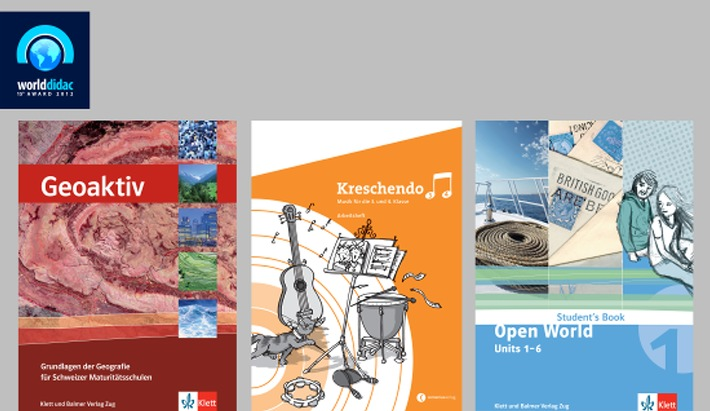 Dreifache Auszeichnung für Lehrmittel aus dem Klett und Balmer Verlag