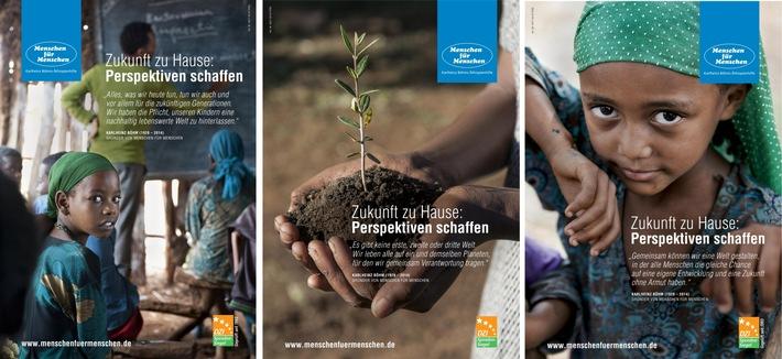 """""""Zukunft zu Hause: Perspektiven schaffen"""" - Plakate der Stiftung Menschen für Menschen - Karlheinz Böhms Äthiopienhilfe werben für nachhaltige Entwicklungszusammenarbeit"""