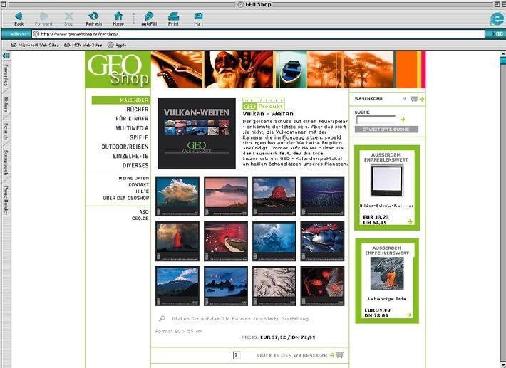 GEO startet ab sofort eigenes E-Commerce-Angebot / Erweiterung des GEOshop-Sortiments in den elektronischen Medien: One Brand - Multi Media
