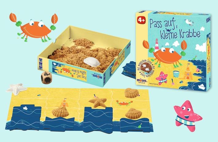 Strandspiel für's Kinderzimmer: Pass auf, kleine Krabbe! / Das Spiel mit dem magischen Sand