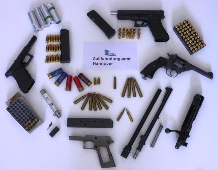 ZOLL-H: Zollfahndung Hannover stellt Waffen und Munition sicher