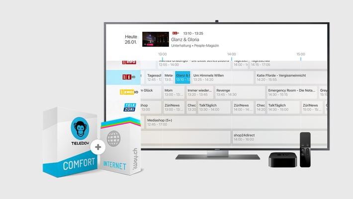 Teleboy lanciert neues Bundle-Angebot für CHF 49.- und fordert mit diesem Swisscom, UPC & Co. heraus