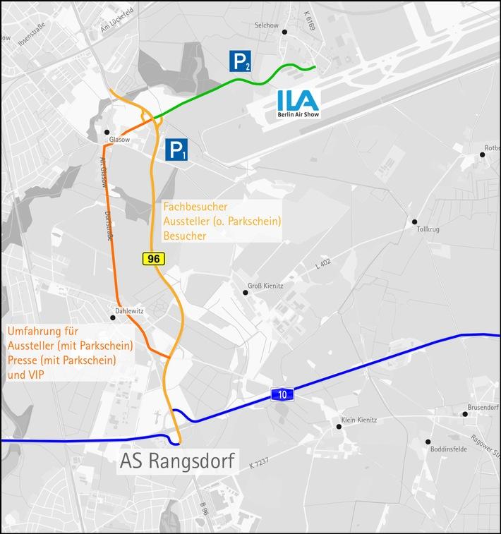 """Der schnellste Weg zur ILA 2016 / Veranstalter empfehlen Anfahrt mit öffentlichen Verkehrsmitteln / Neu: """"Long Friday"""" am 3. Juni - Zehn Stunden ILA bis 20 Uhr"""