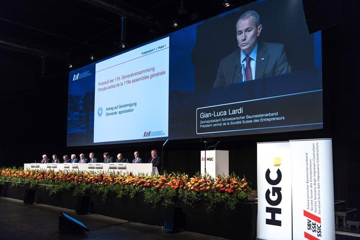 Schweizerischer Baumeisterverband: Tag der Bauwirtschaft - SBV-Präsident Lardi will ehrliche Unternehmer mit Ausweis schützen