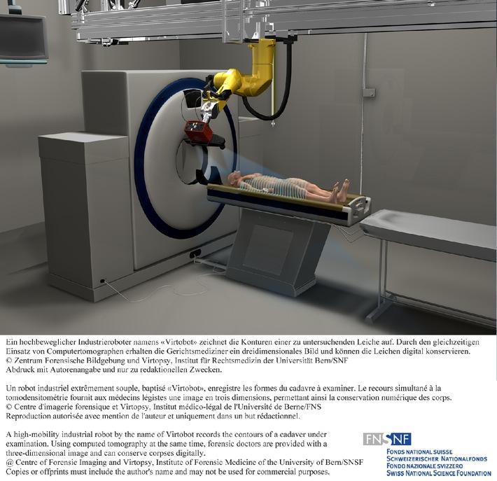 FNS: Image de la recherche 2010: Un robot permet des autopsies virtuelles