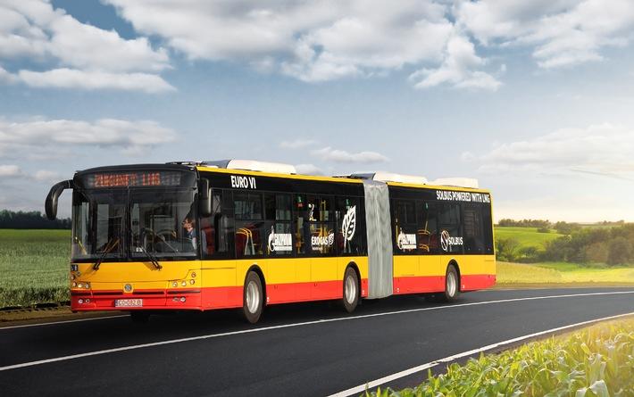 GAZPROM Germania und Solbus bringen Erdgasbusse in Warschau auf die Strasse