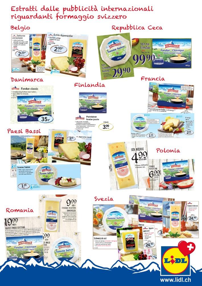 Lidl Schweiz ha potuto incrementare significativamente l'esportazione di formaggio rispetto all'anno precedente