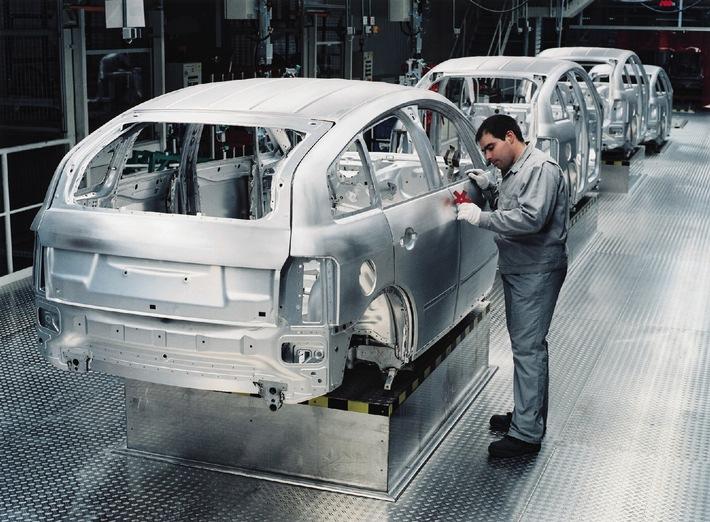 Aluminium expertise at AUDI AG / Audi has built more than 150,000 aluminium cars