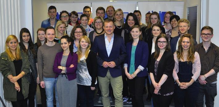 Lernen von den ganz Großen / Marc Bator zu Gast in der Journalistenschule der Bauer Media Group