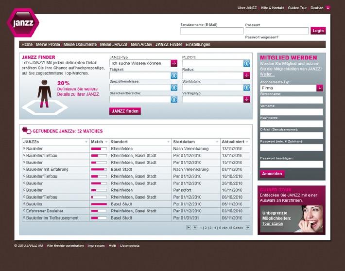 Neue Plattform vereint globales Können / JANZZ geht online und revolutioniert den Arbeitsmarkt