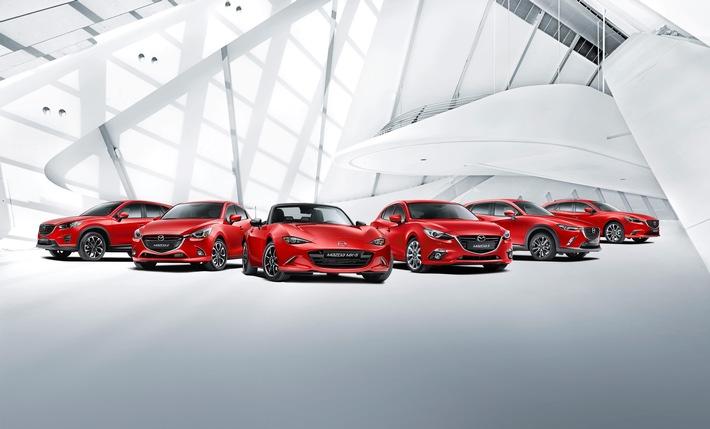 Ausstattungsoption gratis beim Kauf eines neuen Mazda