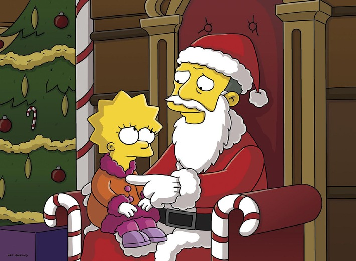 es weihnachtet schwer in springfield der simpsons. Black Bedroom Furniture Sets. Home Design Ideas