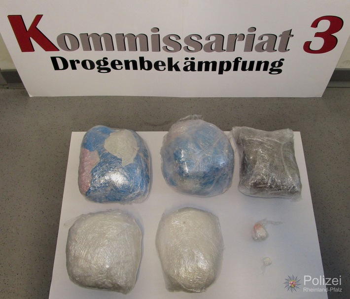 POL-PPWP: Kaiserslautern: Drogenkurier festgenommen, Rauschgift sichergestellt