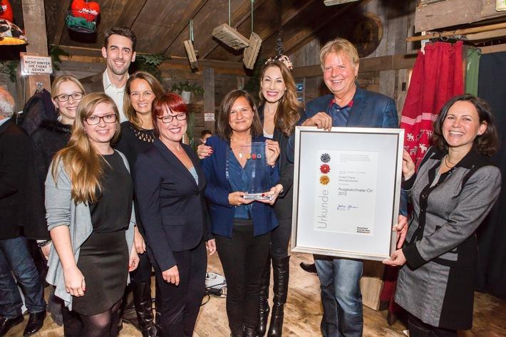 """United Charity erhält Preis zum """"Ausgezeichneten Ort 2015"""" / Baden-Badener Oberbürgermeisterin Mergen und zahlreiche prominente Gäste anwesend"""