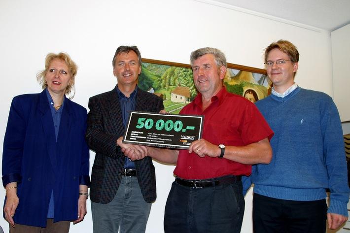 Coop-Patenschaft und VALSER-Wasser spenden 50'000 Franken: Erfolgreiche Hilfsaktion für unsere Obwaldner Bergbauern in Wassernot