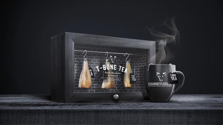 T-Bone Tea: Das erste Steak, das man trinken kann / GOURMETFLEISCH.DE stellt weltweit erste Fleischbrühe im Teebeutel vor