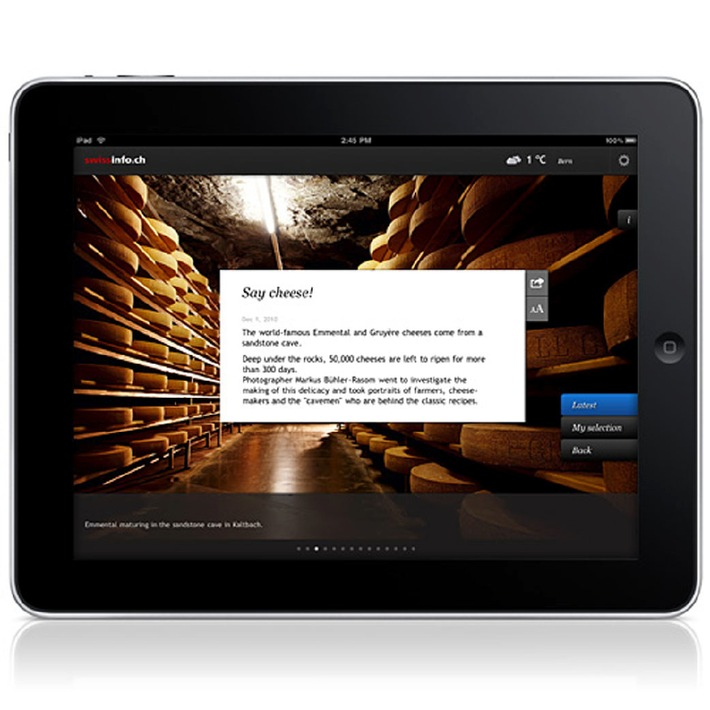 swissinfo.ch launches iPad application in 9 languages