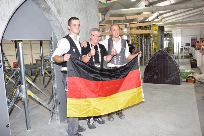 Deutsche Betonbauer holen Silber bei WorldSkills 2017 in Abu Dhabi