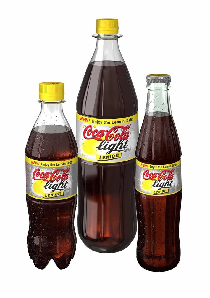 Das neue prickelnde Geschmackserlebnis: Coca-Cola light Lemon