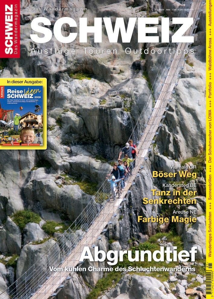 """Wandermagazin SCHWEIZ"" 5/2009: Böser Weg - Abgrundtief"