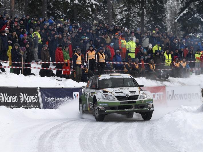 Sepp Wiegand/Frank Christian bei der Rallye Schweden auf Podest-Kurs  in der WRC 2! (BILD)
