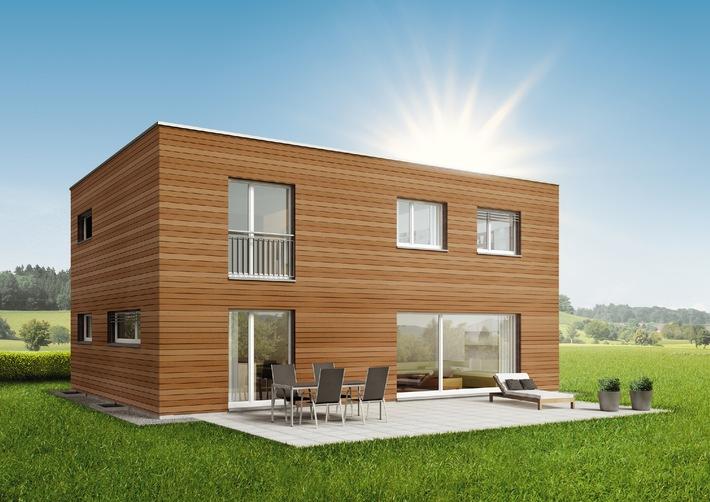 SWISSHAUS lance la maison en bois MODULA: la maison modulaire pour les amateurs de bois exigeants.