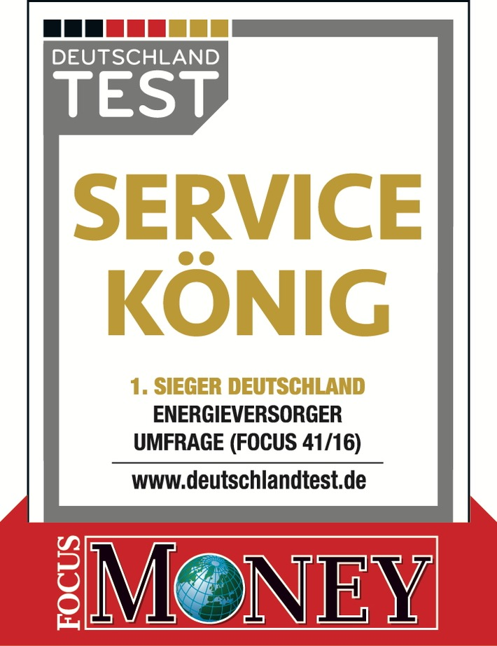 """""""Focus""""-Umfrage: E.ON erneut zum Energieanbieter mit dem besten Service gekürt"""