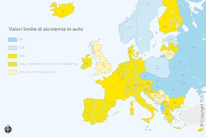Alcol al volante: attenzione all'estero ai diversi limiti!