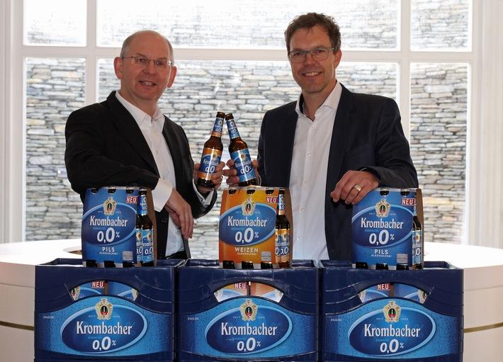 Krombacher verlängert Partnerschaft mit Haspa Marathon Hamburg - Krombacher o,0% feiert Premiere als neuer alkoholfreier und isotonischer Durstlöscher
