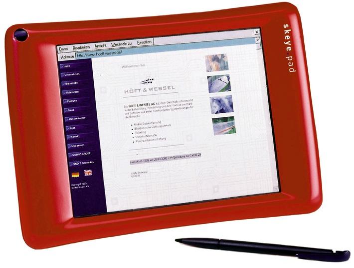 David gegen Goliath/skeye.pad vs Siemens und Fujitsu - Die Nr. 1 im europäischen Webpad-Markt ab sofort in der Schweiz