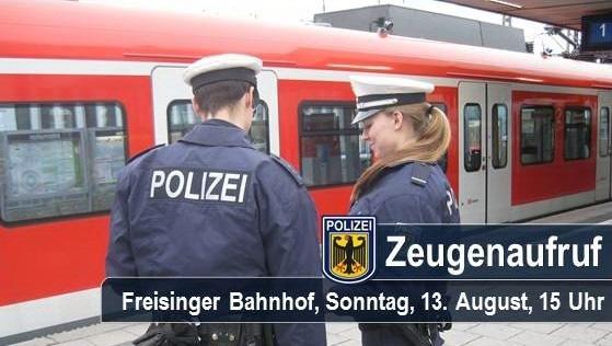 Die Münchner Bundespolizei sucht nach Zeugen, die eine